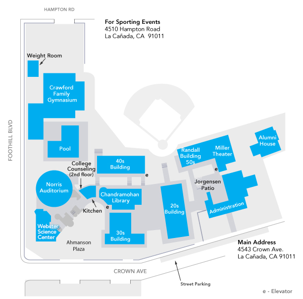 Flintridge Preparatory School Campus Map